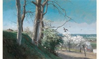 paysage de printemps by alfred emile mery