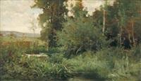 mare près des arbres by edouard bernard debat-ponsan
