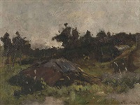 surroundings of bergen by floris hendrik verster
