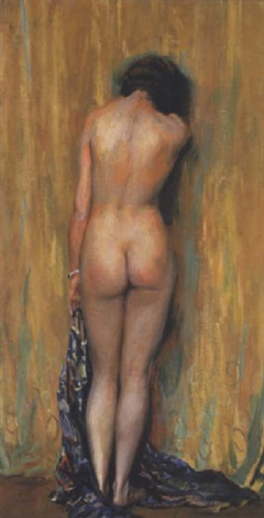 standing nude by guy rose