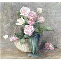 still life of roses by constance walton