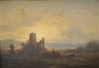 château à l'aube by michel bouquet