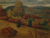 autumn landscape by frank c. kirk