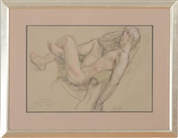 reclining male nude by paul cadmus