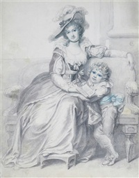 portrait of margaret long and her son by richard cosway