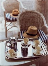 still life with hats by david hockney