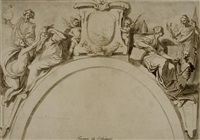 allégorie de la doctrine de saint paul (study for the decoration of the chapel inghirami of the cathedrale of volterra) by giovanni mannozzi