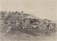 jérusalem, village de siloam, monolithe de format egyptienne by auguste salzmann