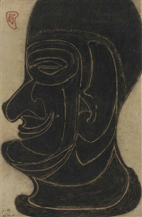 untitled (head) by rabindranath tagore