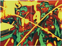enemies enemy ii (diptych) by t.v. santhosh