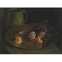 still life with roses by florence carlyle