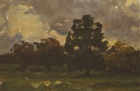 trees in malahide, county dublin by nathaniel hone the younger