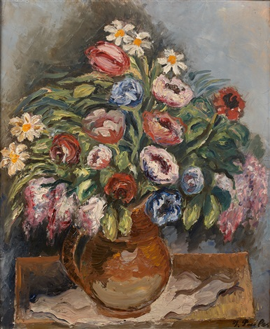 Bouquet fleuri by Isaac Pailes on artnet