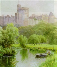 castle by ernest william haslehurst