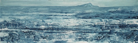 study for the valley of doubt by mark tansey