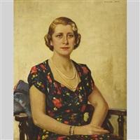 portrait of a lady by richard jack