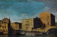 the palazzo lezze with the scuola grande della misericordia, venice by francesco tironi
