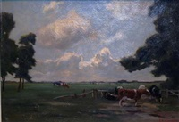 cattle grazing by frans smissaert