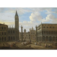 venice, a capriccio view of saint mark's square by mathys schoevaerdts