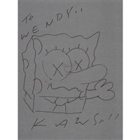 drawing spongebob by kaws