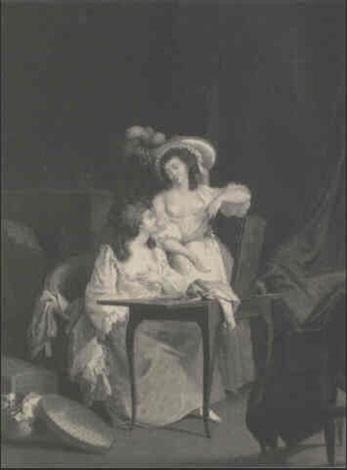 deux jeunes femmes a leur toilette by jean simon fournier