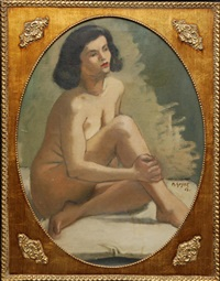 nude woman by moses soyer