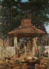 the lychgate, beckenham church by andrew maccallum