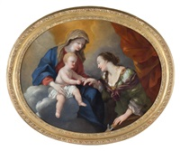 matrimonio mistico di santa caterina by giovanni francesco romanelli
