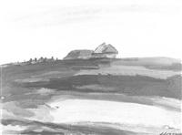 landscape by anna aleksandrovna leporskaya