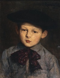 l'enfant au béret by lucien laurent-gsell