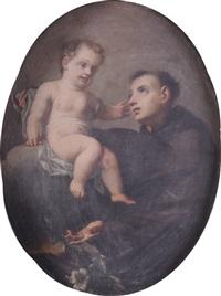 sant'antonio da padova con il bambino by jacopo amigoni