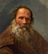 portrait of an elderly russian gentleman by nikolai y. rachkov