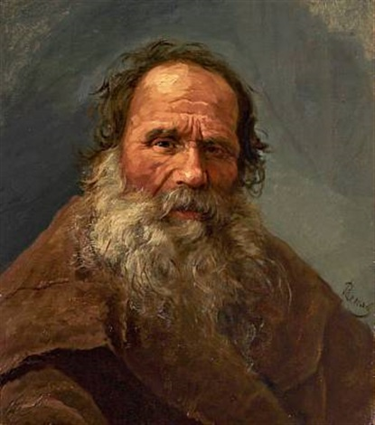portrait of an elderly russian gentleman by nikolai y rachkov