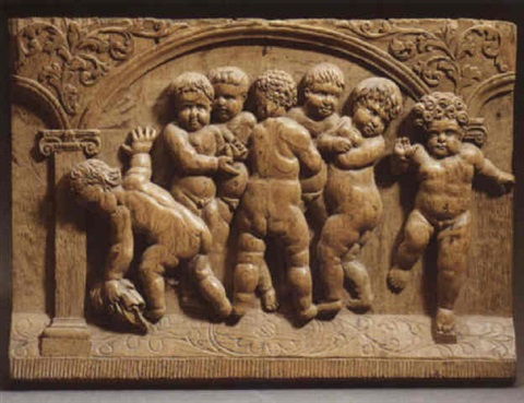 putti at play by german school northern 17