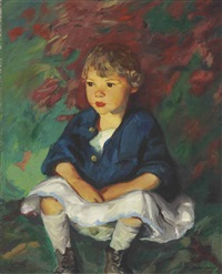 little country girl by robert henri