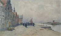 little dutch harbour by archibald david reid