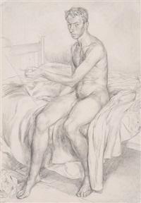 self-portraits (4 works), portrait of joy reid and portrait of captain john reid (6 works) by raymond mason