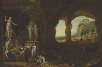 solomon sacrificing to the idols by rombout van troyen
