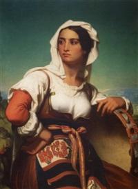 italienne au tambourin by sébastien-melchior cornu