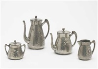 kaffee- und teeservice (model 2176) (set of 4) by j.p. kayser & sohn