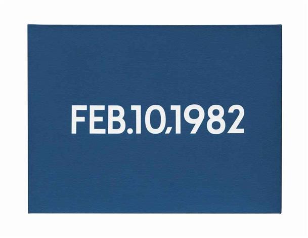 feb101982 by on kawara