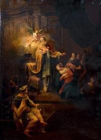 la présentation de la vierge au temple by françois valentin