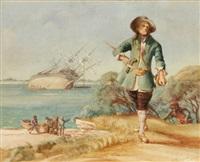 dampier comes ashore by arthur wakefield bassett