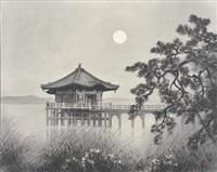 temple under the moon by kibo kodama