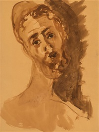 portrait of a young jew by mané-katz