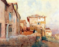 cordes, france by a. moulton foweraker