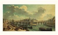 vue du pont neuf avec la samaritaine, et l'ile de la cité by jean baptiste nicolas raguenet