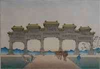 peking - gateway to ming tombs by charles bartlett