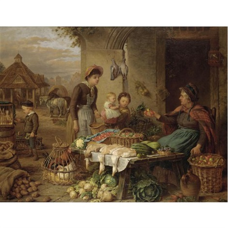 a market stall by henry charles bryant