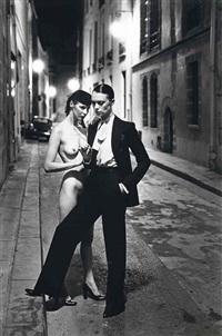 rue aubriot, paris by helmut newton